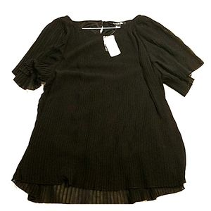 Black angel blouse top new with tags